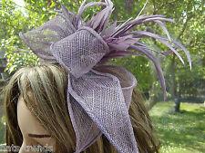 Tocado color lila Elegante Boda Sombrero para eventos Ascot Festivo BAILE