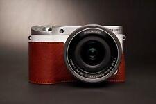 Handmade Genuine real Leather Half Camera Case bag cover for Samsung Nx500