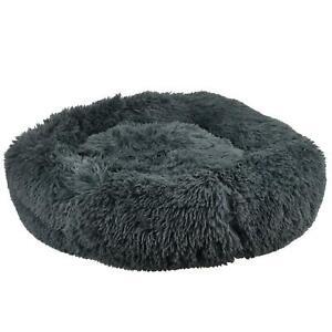 Pet Dog Cat Calming Bed Comfy Shag Warm Fluffy Fur Bed Nest Mattress  Donut Pad