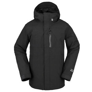 VOLCOM Mens 2022 Snowboard Snow L Gore-Tex Jacket Black