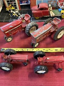 vintage IH INTERNATIONAL HARVESTER diecast tractors ERTL CO. 4for1 NICE LOOK