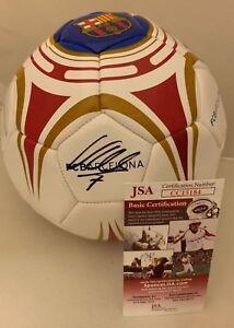 David Villa New York City FC signed F/S Barcelona Barca Soccer Ball Spain 4 JSA
