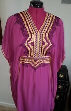 Moroccan Kaftan Royal Plum BEACH House Summer Dress One Size