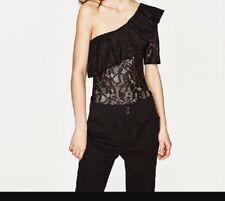 Off Shoulder One Hand Lace Zara Bodysuit. M