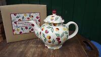 Emma Bridgewater Large 4 Mug Teapot in Summer Cherries pattern Never Used Boxed