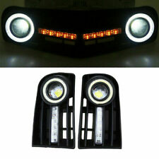 Fog Light Lamp DRL Turn Signal Grill Cover TR34RI For VW Golf 5 MK5 Rabbit 04-09