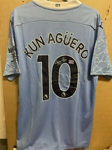Signed Sergio Aguero Manchester City shirt  With coa