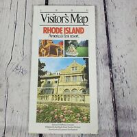 1990 Visitor's Map Rhode Island And Points of Interest