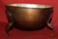 Vintage Hand Made copper footed bowl