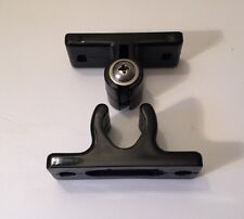 555-WPSETBLK: Black Door Hold Back/Retainer - New - Horsebox/Trailer/Truck