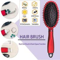 Real Hair Brush Stash Safe Hidden Secret Box Money Jewelry Hider Diversion CA!