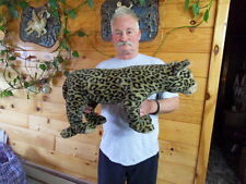 Steiff Leopard cat  HUGE  with all Ids stuffed animal made in  Germany 1155