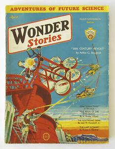Vintage WONDER STORIES Magazine Pulp Science Fiction April 1932 Vol 3 #11