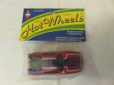 1969 Hot Wheels Wisconsin Toy Red WARPATH Redline Hong Kong New in Bag
