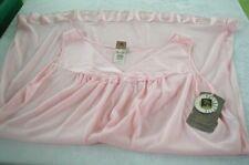 Vasserette Night Gown 3XL NOS Short Pink Made USA Nylon NWT XXXL Nightwear Vtg