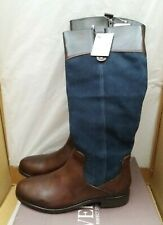 Pavers RNB30012 Knee High Leather Riding Boots - Navy/Brown - UK 7/EU 40