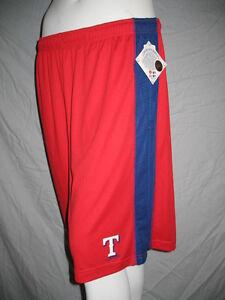 MLB Texas Rangers Baseball Training Gym Shorts Mens Sizes Nwt Majestic
