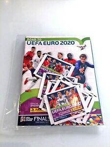 Panini Road to Euro 2020 1 Album + 20 Stickers Packs / Bustine / Boosters