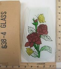 FREE US SHIPPING ok touch lamp replacement glass panel Flowers and Butterfly