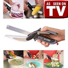 Home Kitchen Multifunctional Knife Clever Cutter 2-in-1 Cut Board Scissors