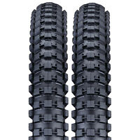 "2x Nutrak BMX Bike Tyres 20 x 2.0"" (ETRTO 54 - 406) Dirt / Jump Black Skinwall"