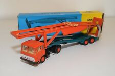 ± LION CAR DAF 2600 TRUCK WITH TRAILER CAR CARRIER AUTO TRANSPORTER N MINT BOXED