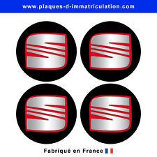 sticker Seat noir pour cache moyeu de jante (lot de 4)