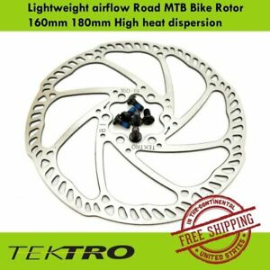Tektro Lightweight Airflow Road MTB Bike Rotor -160mm 180mm High heat dispersion