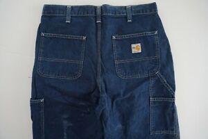 Carhartt FR Fire Resistant  Size 32 Mens Dark Denim Jeans WORK PANTS