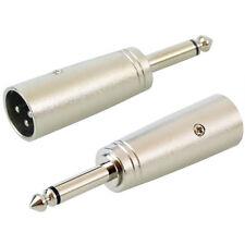KEEPDRUM ADA008 XLR-Adapter XLR Male zu 6,3mm Klinke 2 Stk