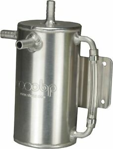 OBP Baffled 1 Litre Round Bulk Head Mount Oil Catch Tank (OBPCT008)