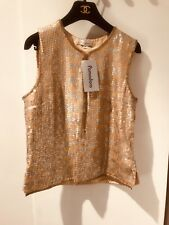 Sequin Platinum & Gold Top Rare Vintage Brand New Pomodoro Size 12