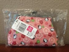 Brand New! Sanrio Hello Kitty Coin Purse Pouch Pink 6 in x 4 in - Made in Japan