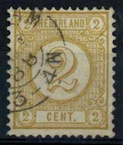 Netherlands 1876-1894 SG#122, 2c Yellow-Ochre P12.5x12 Used Cat £5 #E86822