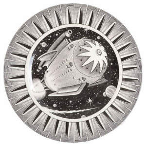 222 Fifth Slice of Life Space Ship Dinner Plate 2638882