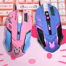 Cute Cordless Optical Mouse USB Receivers Overwatch D'va Wireless Gaming Mice