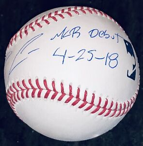 Ronald Acuna Jr. signed MLB Debut autographed inscribed auto baseball USASM JSA