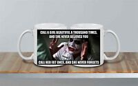 Heath Ledger Joker Batman DC Starbucks Inspired Coffee Mug 10oz