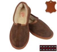Femme Homme Chaussons Pantoufles Mocassins 100% Fourrure Cuir Daim Mouton