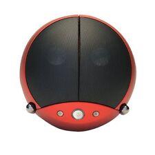 VestaLife LadyBug II Red Speaker Dock iPod iPhone + Aux In MP3 Players Mobiles