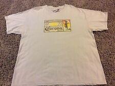 Corona Extra Beer Open Wave Surf Shirt XL Modelo Mexico Breweriana VTG