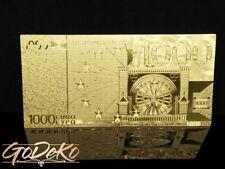 1000 Euro Gold Banknote Sonderedition Geldschein Schein Note Goldfolie Karat a