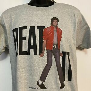 Michael Jackson Vintage Thriller | Beat It 1984 Official Licensed T-Shirt Large
