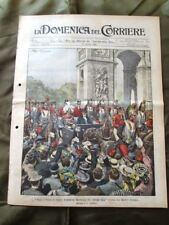 La Domenica del Corriere 25 Ottobre 1903 Reali d'Italia Balli popolo Chamberlain
