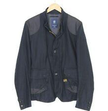 G-STAR HORSERIDING BLAZER Navy Blue Cotton Jacket Men Size L MJ1187