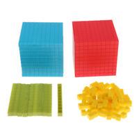 Set of 121 Educational Child Gifts Interlocking Base Ten Math Skill Aids