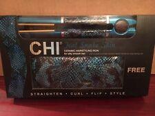 """CHI TEAL SNAKE SKIN 1"""" CERAMIC HAIRSTYLING IRON w/ MATCHING SNAKE SKIN WRISLET"""