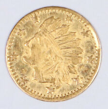 1861 California Gold Indian 9 Star Obverse of 1858 Proof-Like PL Burnie 1787 BG