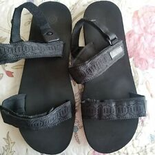 Reef Brazil Men's Black w/Belcro Strap Adjustable Sandals Size 11-12