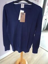 BNWT DESIGNER TIMBERLAND PURE COTTON PIN POINT CREW SWEATER UK SMALL RRP £75